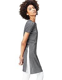 FIND T-Shirt Long Col Ras du Cou Femme