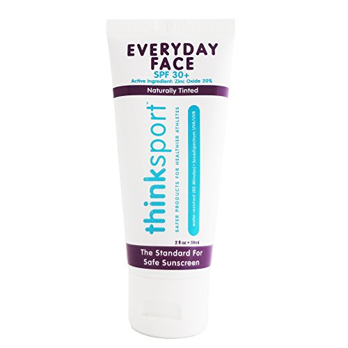 Thinksport Sonnenschutz-jeden Tag Gesicht - 30 SPF 59ml (2 oz) - Sicherer Zinkoxid - Getönt- Ideal für den täglichen Gebrauch - Mineralische Formulierung der Ungiftigen Zutaten (Lotion Sonnenschutz Täglichen)