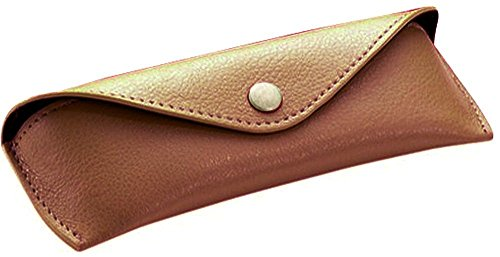 Alassio Gafas–Funda de piel auténtica, pequeño, aprox. 16x 5,5x 3cm Funda Organizador, 16cm, color marrón