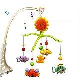 Bluelover Baby Hand Bett Kinderbett Musical hängend drehen Bell Ring Rassel Mobile Spielzeug