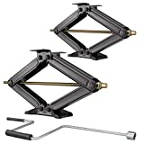 "Set of 2 5000 LB 30"" RV Camper Trailer STABILIZER Extender Leveling Scissor"