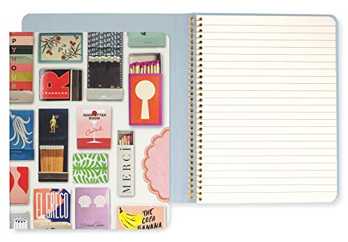 Concealed Spiral Notebook with 112 Lined Pages, Floral Dot ()