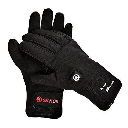 retter Beheizte Handschuhe mit Wiederaufladbare Li-Ion Akku Erhitzt für Männer und Frauen, Touchscreen Wasserdichte Warme Handschuhe für Radfahren Motorrad Wandern Skifahren Bergsteigen, arbeitet bis zu 2,5-6 stunden (XXL)