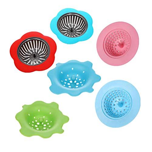 SUPVOX 6 stücke Acryl Gießen Siebe Malwerkzeuge Kits Zeichnung Sets Blume für DIY Farbe - Sieb, Pinsel