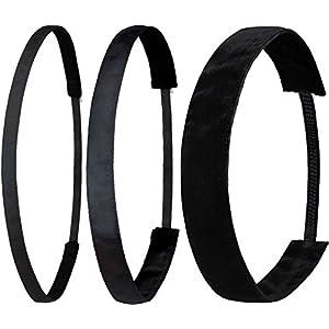Ivybands® | Das Anti-Rutsch Haarband | Black Edition | Schwarz Superthin , Klassisch Schwarz, Schwarz Extra Breit | 1 Size | IVY003 IVY001 IVY026