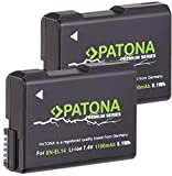 PATONA Premium (2X) - Ersatz für Akku Nikon EN-EL14 EN-EL14a (echte 1100mAh) -