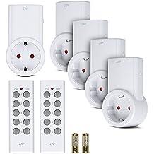 Etekcity® Enchufes Inalámbricos Inteligentes con Control Remoto para Electrodomésticos, Blanco (Código de Aprendizaje, 5Rx-2Tx)