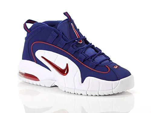 Nike Herren Air Max Penny Sneakers, Mehrfarbig (Deep Royal Blue/Gym Red/White 001), 45 EU -