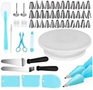 Cake Decorating Kits Supplies 73-in-1 Baking Accessories with Cake Turntable Stands, Cake Tips, Icing Smoother