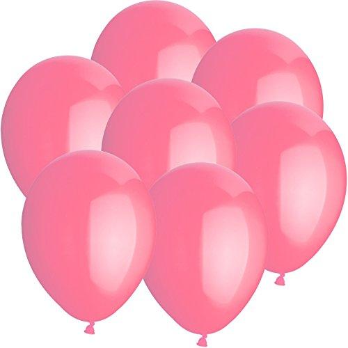 Preisvergleich Produktbild 100x Rundballons ROSA Ø25cm + Geschenkkartenset + PORTOFREI mgl. + Helium & Ballongas geeignet. High Quality Premium Ballons vom Luftballonprofi & deutschen Heliumballon Experten. Tolle Luftballondeko und Geschenkidee mit Ballons.