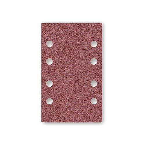 MENZER Red Klett-Schleifblätter, 133 x 80 mm, 8-Loch, Korn 120, f. Schwingschleifer, Normalkorund (50 Stk.)