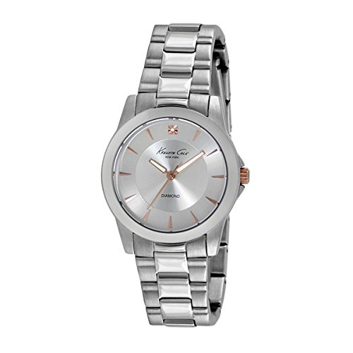 Kenneth Cole New York Women's Quartz Watch with White Dial Analogue Display Stainless Steel 10017862/KC4977