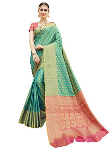 EthnicJunction Booti Zari Butta Banarasi Silk Saree With Zari Thread Work Unstitched...