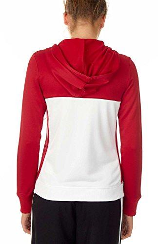 Adidas Pull à capuche T16équipe Multicolore - Rouge/Blanc