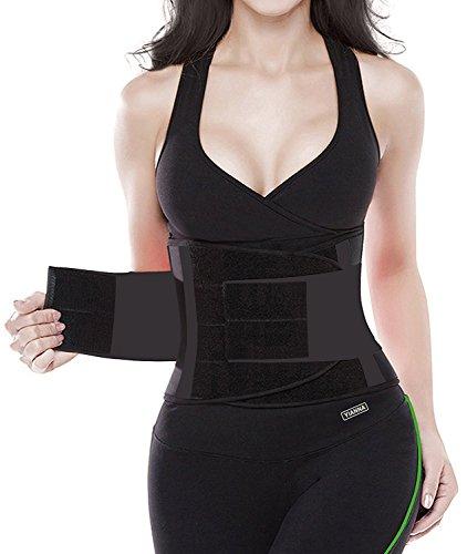 YIANNA Damen Taillentrainer Gürtel - Körperformer Gürtel für eine Sanduhrfigur Taillenmieder, UK-YA8002-Black-S