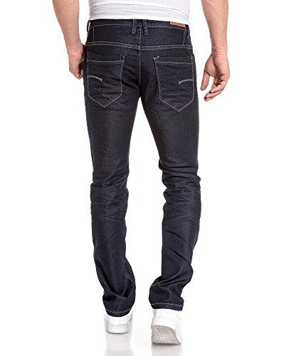 BLZ jeans - Jean Gross Mann gerade geschnitten Kontrastnähte Blau