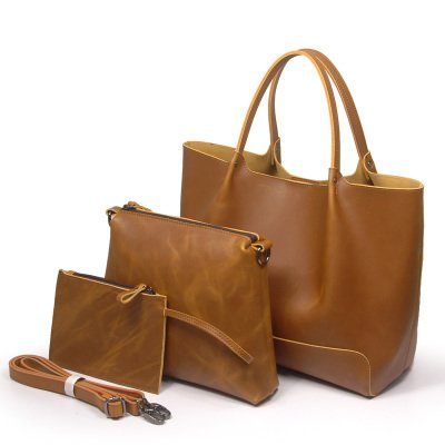 Sacs femmes sac à bandoulière Sac en cuir Messenger Sac en cuir souple sac de femmes paquet loisirs Khaki