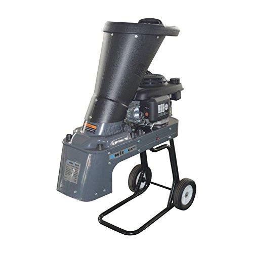 SwitZer Heavy Duty 3KW Garden Petrol Chipper Shredder 159CC 4 Stroke Engine Wood Tree Timber Brush Branch Gasoline JRE-1001B-1 Grey