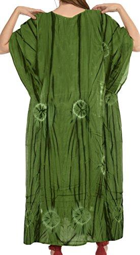 La Leela Ono la Leela Rayon Strand tragen Nacht Frauenkleid Kaftan langen Kaftan Kleid tragen Grün 1