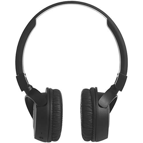 JBL T450BT Cuffie Sovraurali Bluetooth Cuffie On Ear Wireless con Microfono e Comandi su Padiglione JBL Pure Bass Sound, Leggere e Pieghevoli, da Viaggio, fino a 11 h di Autonomia, Nero - 6