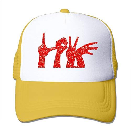 (wwoman Liebe Geste personalisierte Classic Print einstellbar Baseball Trucker Caps (Einheitsgröße))