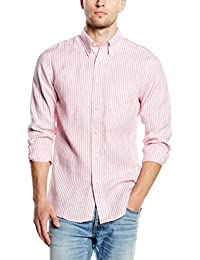 Brooks Brothers - Sport Shirt Linen Stripe,  pack, Camisa Hombre