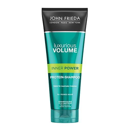 John Frieda Inner Power Protein-Shampoo - 2er Pack (2 x 250 ml) - mit Protein-Kraft-Komplex - für feines Haar