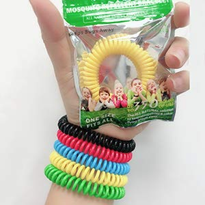 Mouttop 12 Pack Mosquito Repellent Bracelet,100% Natural Non-Toxic Bug Repellent Bracelet 350Hrs Protection - Insect Bug Repellent kids,Women,Men (12) …