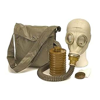 ABC sHSK masque à gaz en toile avec bandoulière, masque protection neoprene m41 et remplacé par un tuyau de filtre