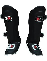 3X Sports - Espinilleras deportivas para artes marciales y boxeo., XL
