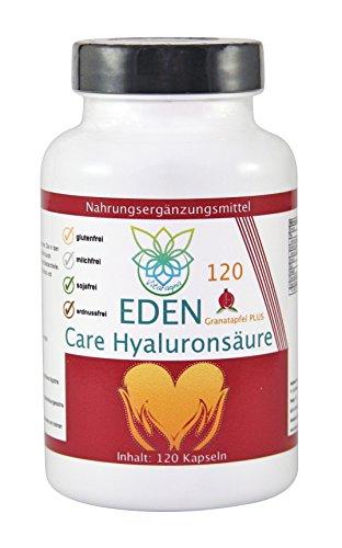 VITARAGNA Eden Care Hyaluronsäure & Granatapfel Plus 120 Kapseln Complex, Anti-Falten, Anti-Aging, Gelenke, hochdosiert, clean, fermentiert