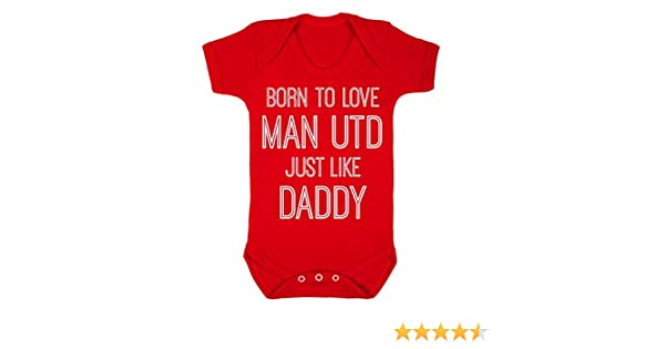 Love Man Utd Hate Scousers Cute Present Baby New Born Gift Supersoft Baby Hoodie