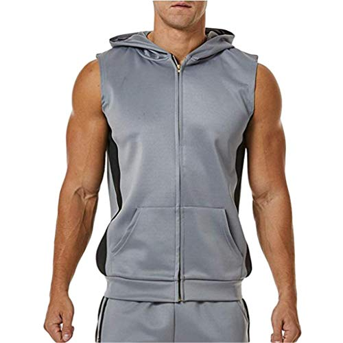 Winwinus Mens Juniors Casual Athletic-Fit 2 Piece Set Pullover Sweatsuit