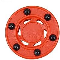 Buyfunny01 ller Hockey Puck Accesorios Redondos Ruedas práctica duraderas Naranja Profesional ABS Alta Densidad Antivuelco Perfectamente equilibrado