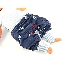 Lange Pumphose Größe 80/86 Baby Mitwachshose Motiv: Krebs