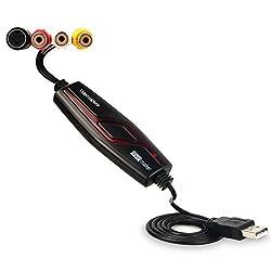 Audio Video Grabber USB 2.0, Videoadapter zur Bearbeitung, Hi8 VHS auf DVD Digitalisieren für Mac und Windows 10 with Scart/AV Konverter Adapter