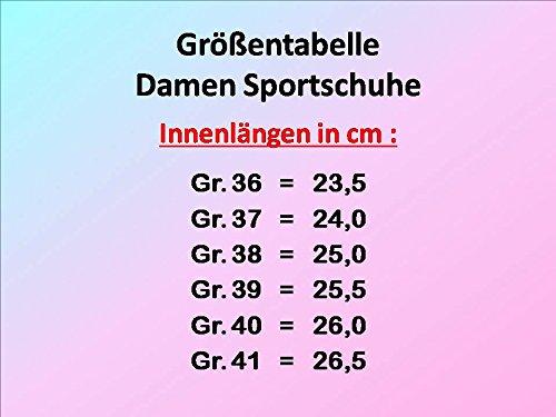 GIBRA® Damen Sportschuhe, sehr leicht und bequem, schwarz/mehrfarbig, Gr. 36-41 Schwarz/Mehrfarbig