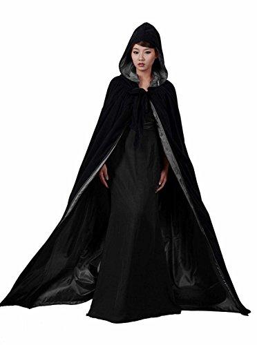 Renaissance Umhang mit Kapuze Umhang Hexe Umhang Vampir Kostüm Umhang mit ()