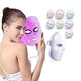 Máscara de terapia con luz LED de 7 colores - FEITA Photon Light Skin Rejuvenation Therapy Facial Skin Care Mask - Anti-Aging - Reduce las arrugas - Tratamiento de cuidado facial
