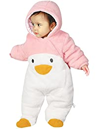 KRAFBEAN - Mono Entero para Bebés Chaqueta de Polar Disfraces de Animal Mameluco Grueso para Invierno Otoño - Pingüino Panda