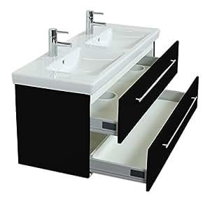 Meuble salle de bain Villeroy & Boch Subway 2.0 130 cm noir satiné