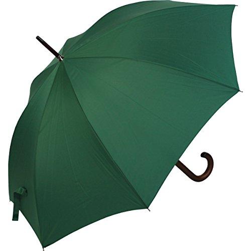 RS-Regenschirm Holzstock groß stabil für Damen und Herren mit Automatik- grün