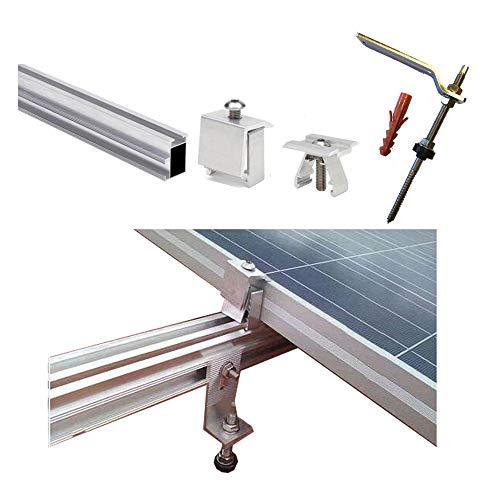 Struttura Pannello solare tetto perforante supporto per tutti i tipi di pannelli, grigio
