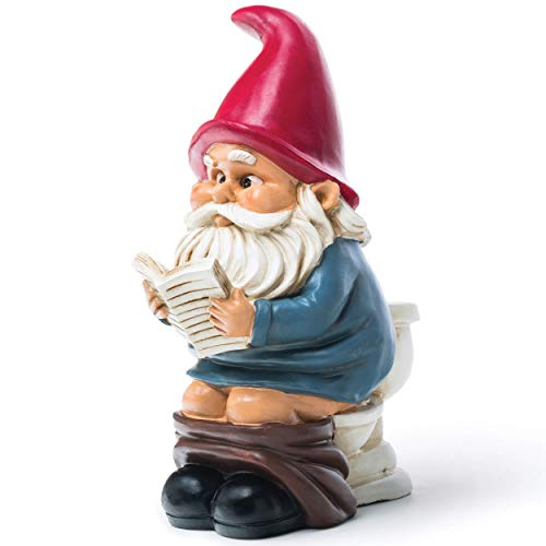 GNOMES FOR GARDEN COLOURFUL PAINTED RESIN ORNAMENT WEATHERPROOF 20.5cm GNOMES