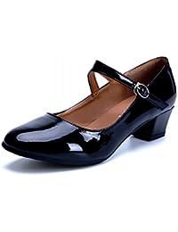 BYLE Sandalias de Cuero Tobillo Modern Jazz Samba Zapatos de Baile Latino Zapatilla Zapatos Zapatos con los Maestros...