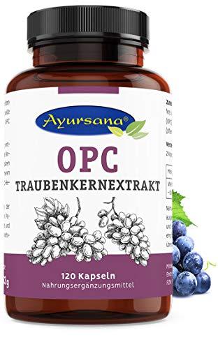Ayursana - Natürliches OPC Traubenkernextrakt, aus Frankreich (120 Kapseln)