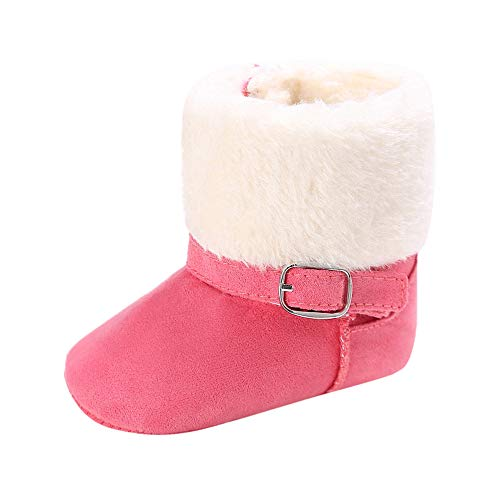 Cinnamou Baby Boots,Infant Newborn Baby Girls Solid Color Cashmere Shoes High Gang Snow Booties Toddler Boots Winter Warm Boots