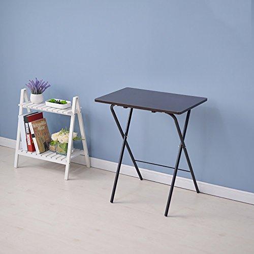 KLEDDP Klappbarer Schreibtisch klappbarer Computertisch Esstisch Kleiner Tisch modern minimalistisch 60X40X70 cm (Color : 2#) - Moderne Stahl-tisch