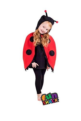 Fun Shack Kostüm Mädchen Lady Bug Kostüm Baby Kleinkind Alter 1-2 ()