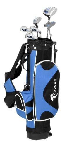 Cougar Junior Set de golf pour débutant droitier 5-7 ans avec club nº7 et SW, métal, fibre de...